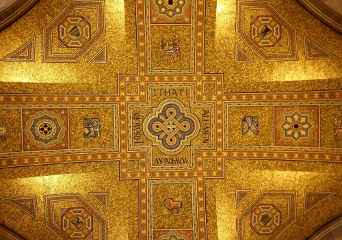 His Work That All Men May Know… from the ceiling of Rotunda at Royal Ontario Museum. You can follow @ROMtoronto on Twitter & Royal Ontario Museum on YouTube.