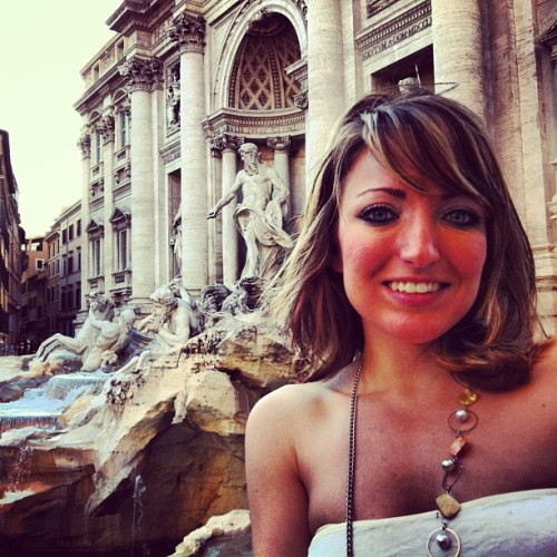 Taking a quick pic in front of #trevifountain #art #sculptures #rome #travel #studyabroad #student #fly #live #happy #adventure