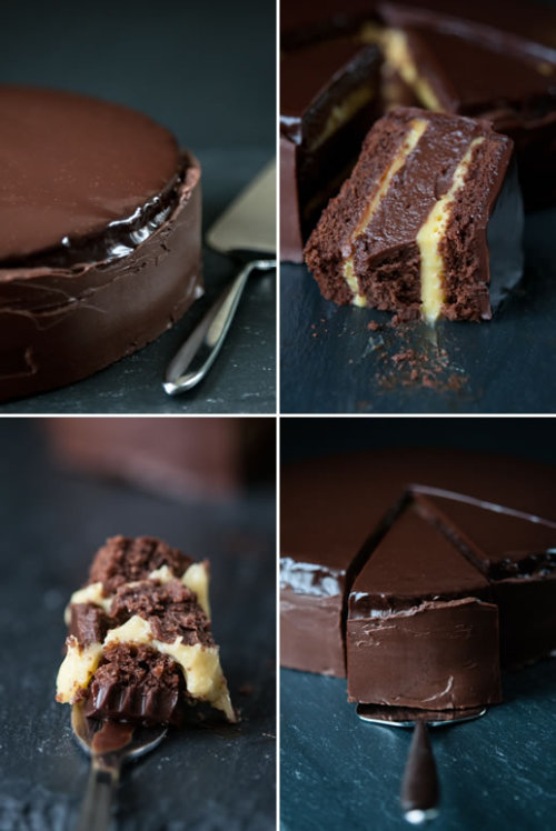 confectionerybliss:   Passion Fruit Truffle Cake