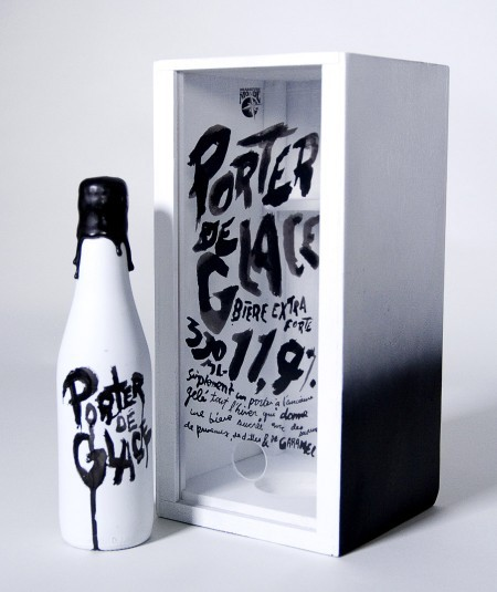 typeverything:  Typeverything.com Porter de Glace Prototype beer packaging by Mathieu Lacombe.