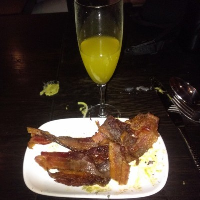 They just brought us a plate of straight #bacon … #mimosa #brunch #classy #klassy #klassywithak  (at Maya)