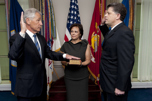 Chuck Hagel sworn in as Secretary of DefensePhoto: Department of Defense