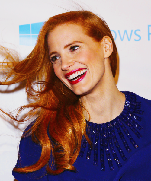 Jessica Chastain at the Vanity Fair Pre-Oscars Party 2013