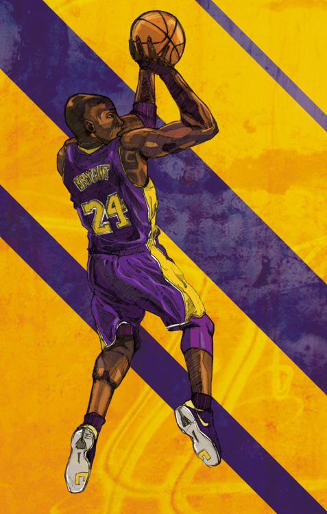 Kobe Bryant doing that shot thingy he does.  prints