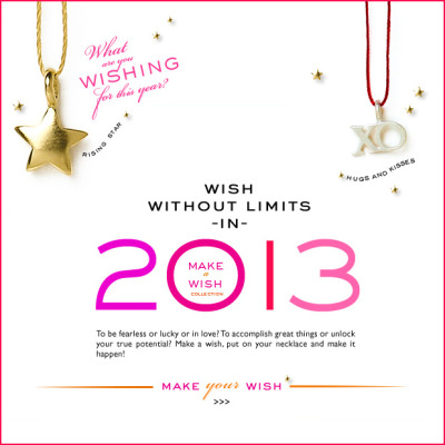 What will you wish for in 2013? Make a wish, put on your necklace & make it happen this year!