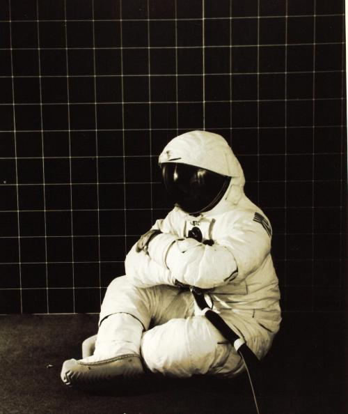 Space is depressing as hell. Space Suit by Garrett Corp Crew Systems EVA Branch. Via SDASM