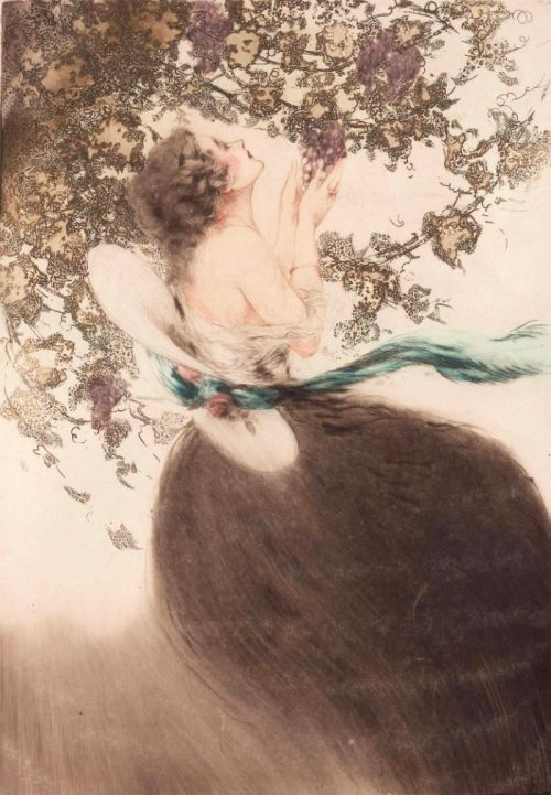 fleurdulys:  Grapes - Louis Icart 1920