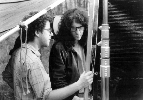 fuckyeahdirectors:  Joel and Ethan Coen on the set of Miller's Crossing (1990).