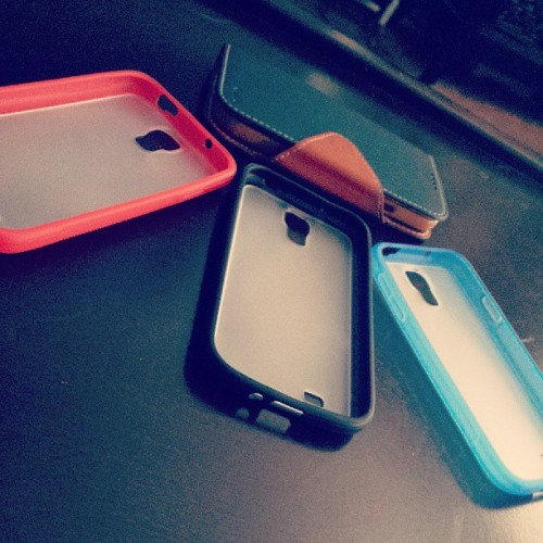 I got my bumpers today.  More cases!  #GS4