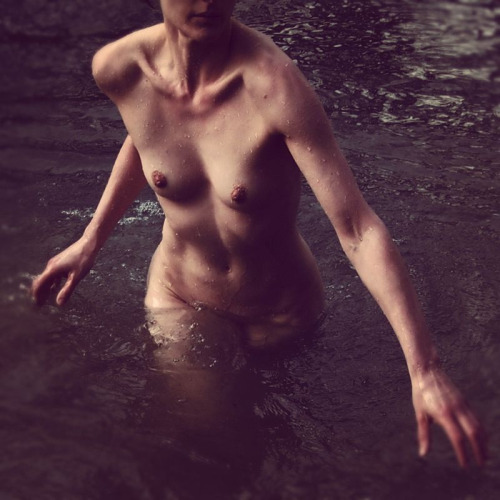 ktjanewood:  Walking In Water, Self Portrait