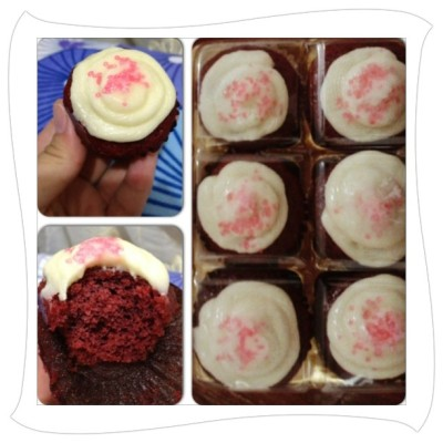mother's day treat from @miss_attyrn . thanks! 👍🍰 #redvelvetcupcakes