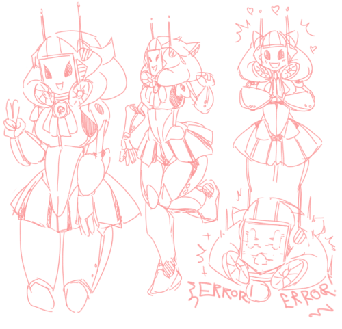 shewinki:  Im workin on a radio robot girl because I listened to to many vocaloid songs.