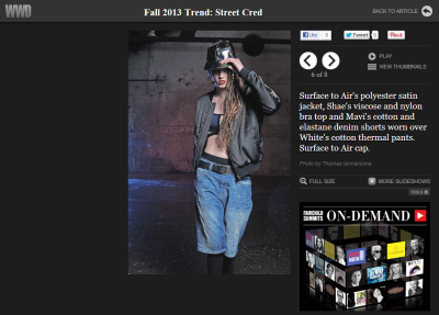 WWD.com featured our Nicholas men's short in their Fall 2013 Trend: Street Cred editorial. See the full feature here: http://www.wwd.com/fashion-news/trends/fall-2013-trend-street-cred-6885485/slideshow/6885497#/slideshow/article/6885485/6885497