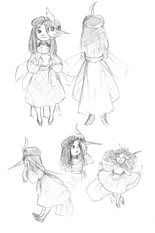 thefrenchgalsart:  Found these old sketches of askjackdonoverland's Emma-Baby Tooth. Completely forgot to post them. :'D Welp, back to the Sci fi AU.