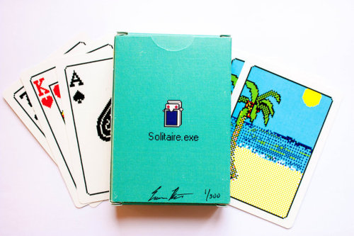 moderneraofarts:  Solitaire.exe Limited edition Solitaire card deck by Evan Roth. Already sold-out :( via