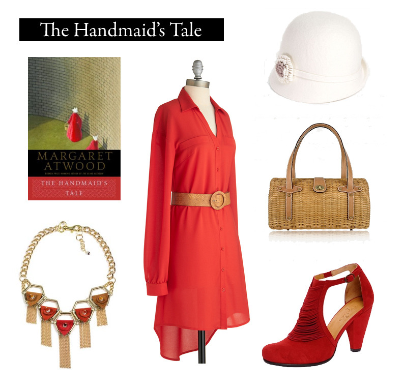 "Outfit inspired by Margaret Atwood's The Handmaid's Tale. ""You can think clearly only with your clothes on."" Red All About You Dress  