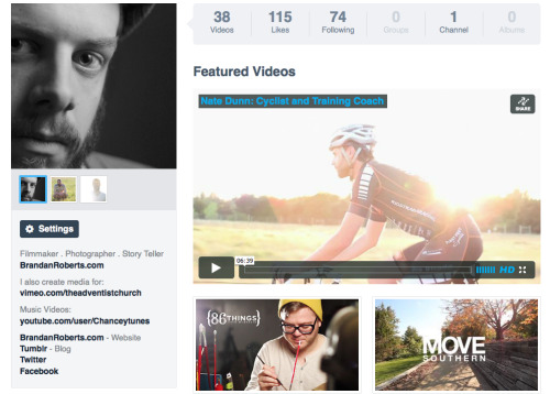 I'm personally a big fan of the new layout on Vimeo. www.vimeo.com/brandanroberts