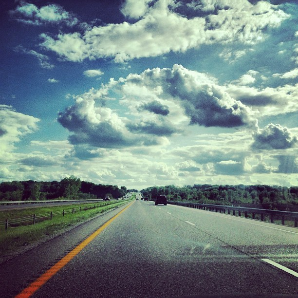 Missouri Skies!!  (at Missouri River Bridge)