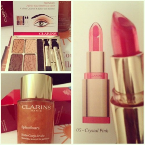 Stay glam this summer with Splendours collection by @ClarinsCanada #beauty #splendours #summer #cosmetic #beautysta #like #follow #ete #sun #lips #eyeshadow #oil #body #skin #face #clarins #montrealin #mtl #montreal