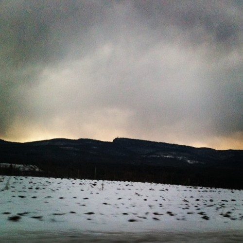 Glowing mountains #newpaltz #mountains #nature