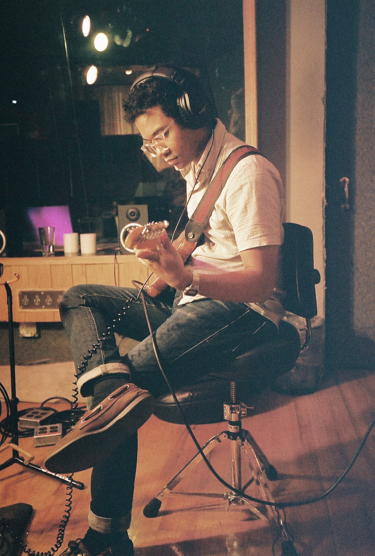 "Toro Y Moi in studio recording live re-make of his track ""You Hid,"" with Yours Truly."