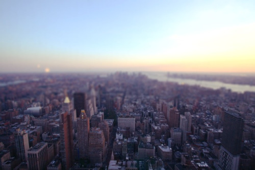 Manhattan tilt-shift. New York City in August 2010.