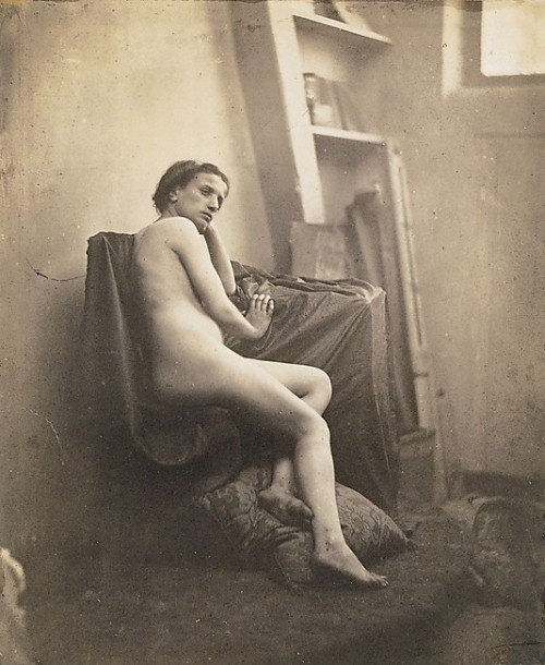 Female Nude in Studio by Franck-Francois-Genes Chauvassaignes (1856-59)