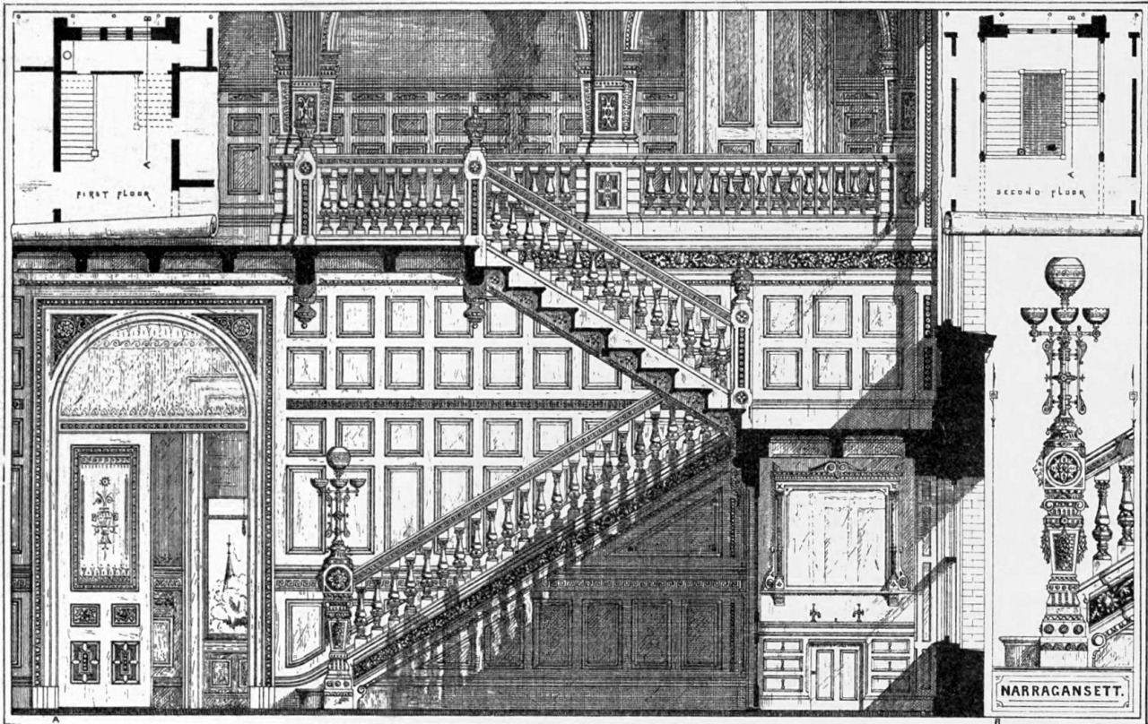 Design for a wooden staircase