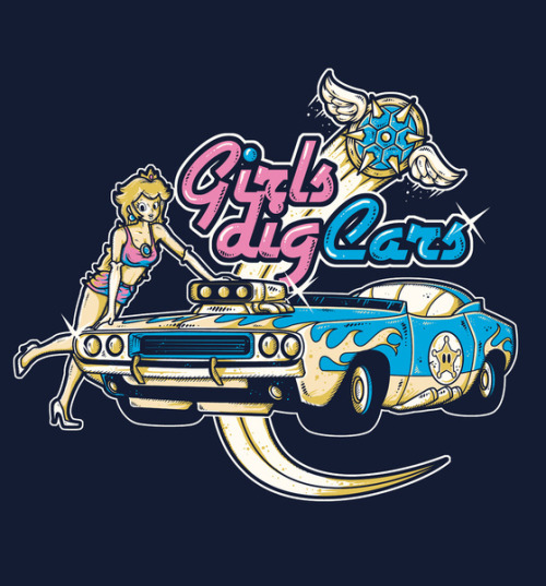 Girls Dig Cars Created by Letter-Q Prints available at Society6