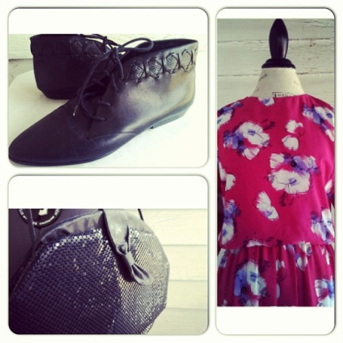 #instantensemble #vintage #80s #dress #booties #sequins #purse  (at Runaround Sue Vintage)
