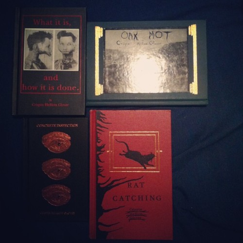 All the #Crispin #Hellion #Glover books I own. All #signed by him too :)