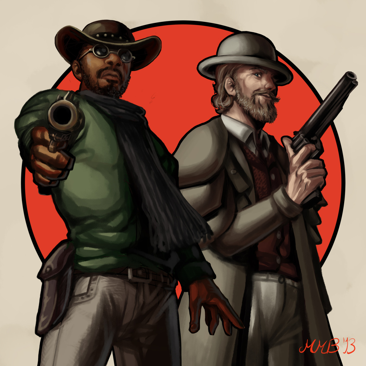 Django Unchained fanart!! Excellent and badass film!!!