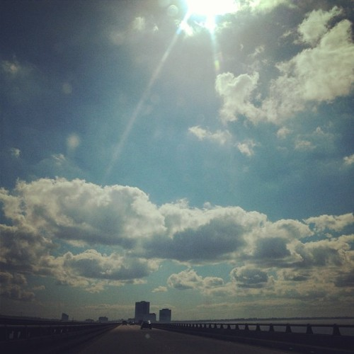 Weather is gorgeous today #weather #clouds #sky #sun #pretty #day #nature