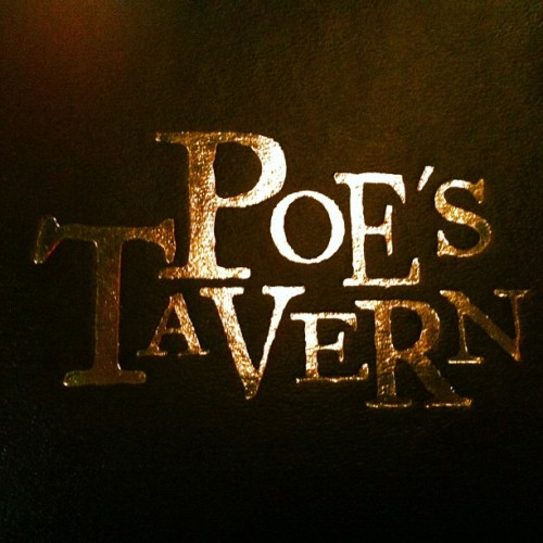 If I see a guy in a Poe mask, I'm so outta hear.  (at Poe's Tavern)