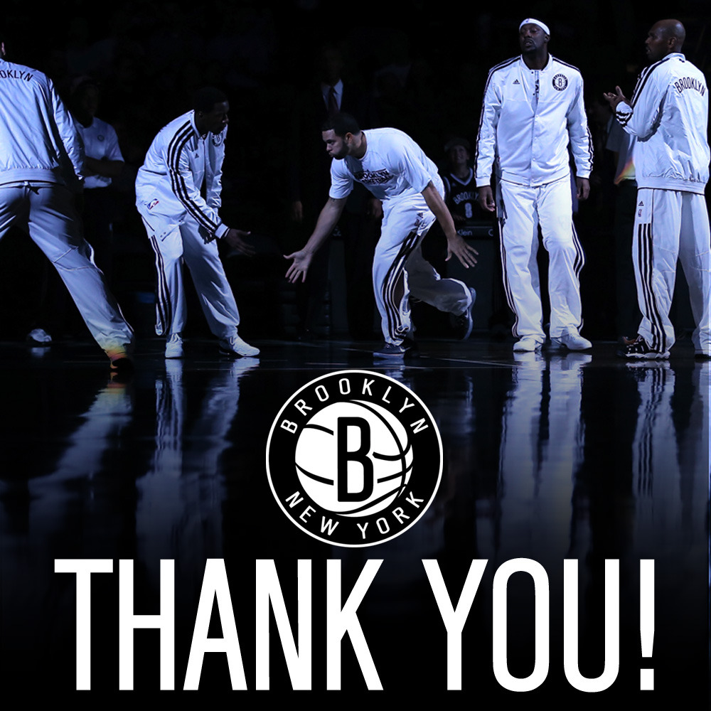 Thank you for a great first season in Brooklyn, Nets Nation! We'll be back better than ever next season.