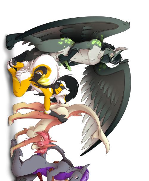 liftyourtail:  Rarakie's Conga Orgy~