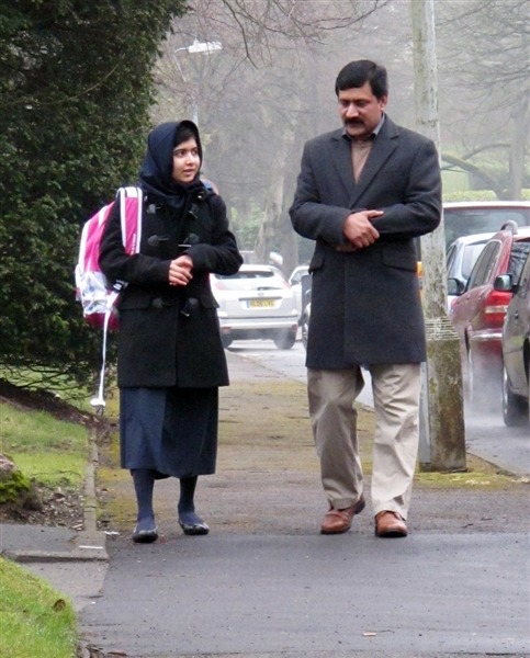Malala Yousafzai, Pakistani teen shot by Taliban, back at school — in UK (Photo: Malala Press Office via AP) The Pakistani teen marked for death because she campaigned for girls' education went back to school Tuesday for the first time since a Taliban gunman shot her in the head five months ago, a family spokesperson said Read the complete story.