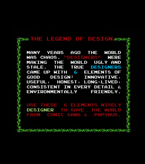 The Legend of Design by Jamie Johansen.