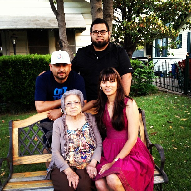 Me, my brother @lapistola77 , sister @_5andy_ and my gma. Mother's Day 2013.
