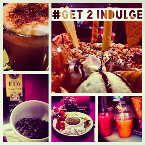 Cool down @indulge_dessert with a range of amazing flavours in#icecream #sorbet #milkshakes #coolers#cakes#tarts#coffees#teas and so much more #gettoindulge