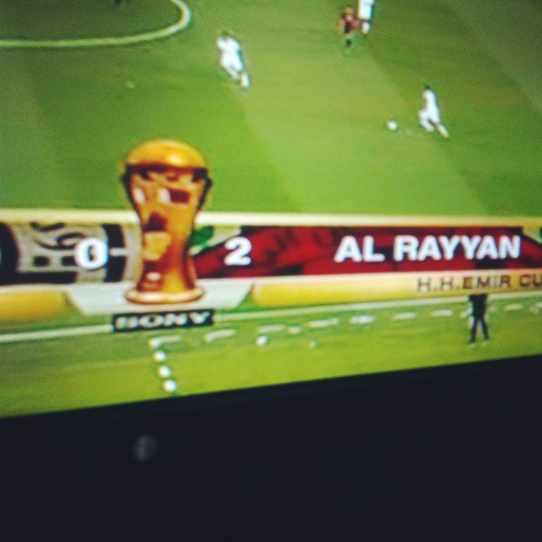 {18th of May '13} 2 goals in 8 minutes! Go AlRayyan