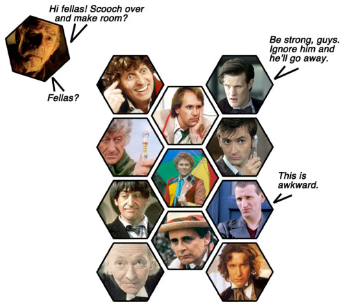 The Eleven Doctors. Really. Only eleven, we swear.