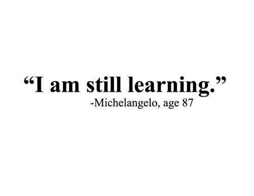 thepreppyyogini:  If Michelangelo could still be learning at 87, we can all keep learning lifelong!