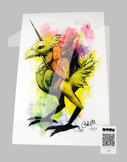New! Chocobo Knight, Final Fantasy 1 of 1 fan art: http://etsy.com/shop/DoomCMYK
