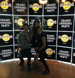 Hard rock grand opening party, with my workmates Pacho & Bruno. I love them!!