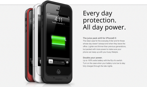 Mophie Introduces Juice Pack Air For The iPhone 5