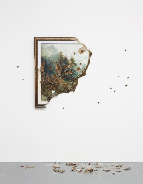 Valerie Hegarty, Bierstadt with Hole, (2007)