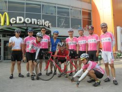 "its only a day away from the Giro. as the first ""pink"" cycling team in Taiwan, we are ready for the Giro this year!"