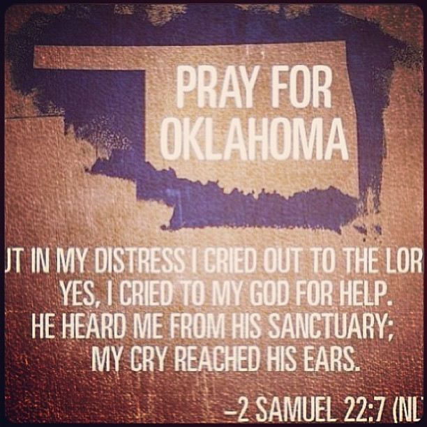 Praying for Oklahoma this morning! My heart is broken for those who have lost loved ones especially those who lost children. #PrayForOklahoma