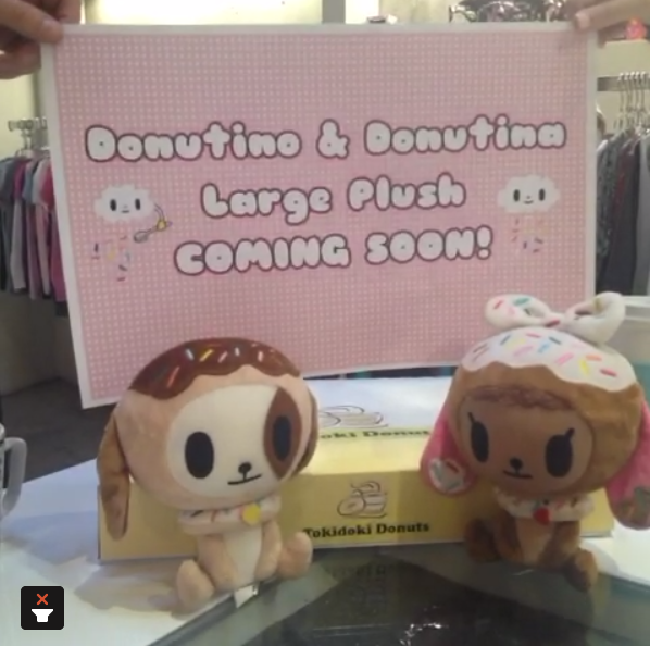 Donutino & Donutina Plushies Incoming My wish came true! The pastry puppies are getting full size plush releases from tokidoki. There's no release date yet, but it can't be too long since the photo shows what seem to be finished products. Check it: More tokidoki on Albotas Buy: tokidoki Donutella Plush